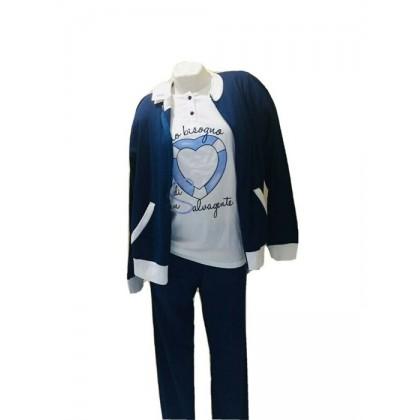 Tuta Donna 3 pezzi in cotone leggero homewear