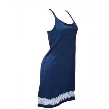 Camicia da notte spalline strette in cotone Patrizia