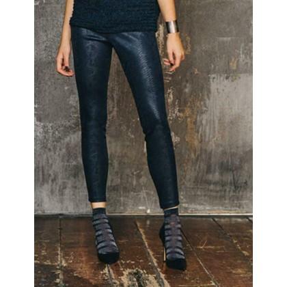 Leggings SISI stampa pitonata blu