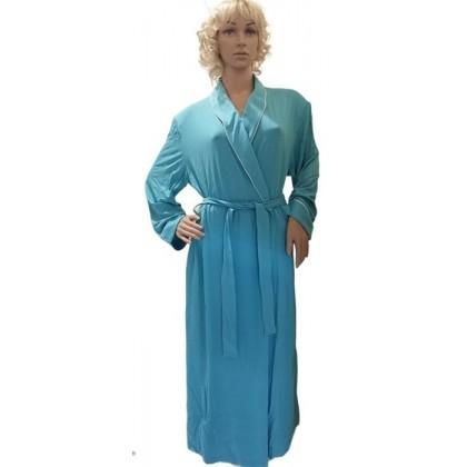 Alba Vestaglia Donna lunga in viscosa, turchese, taglie...